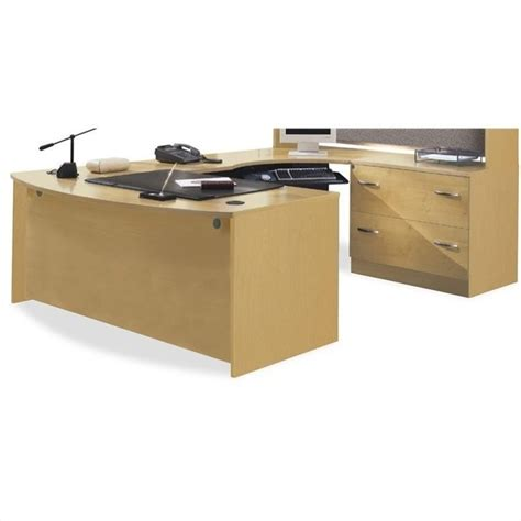 bush u shaped desk bush business series c light oak u shaped desk bsc040 603