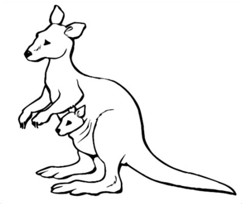 printable kangaroo template awesome and beautiful kangaroo outline 25 amazing tattoo