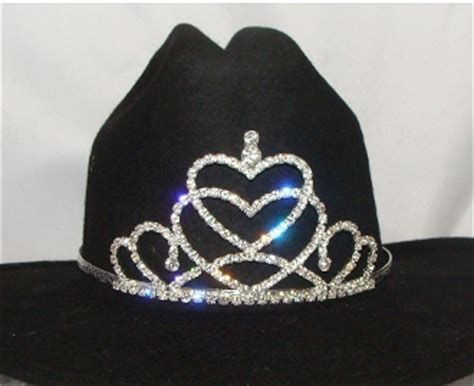 tiara boat hat quot queen of hearts quot rhinestone cowboy hat tiara usa made