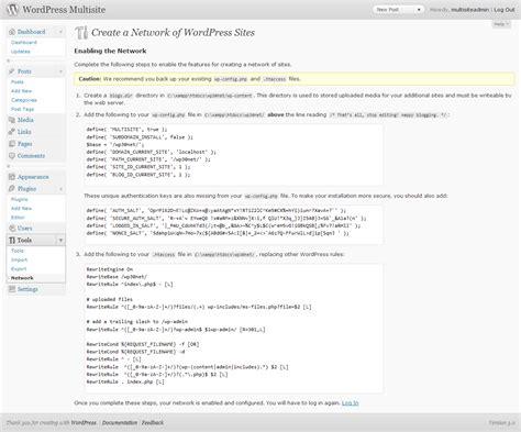wordpress multisite  installieren und konfigurieren
