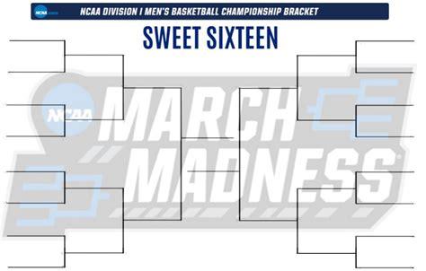 sweet 16 bracket template printable blank sweet 16 bracket for the 2018 ncaa
