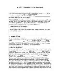 Template Commercial Lease Agreement free florida commercial lease agreement template word