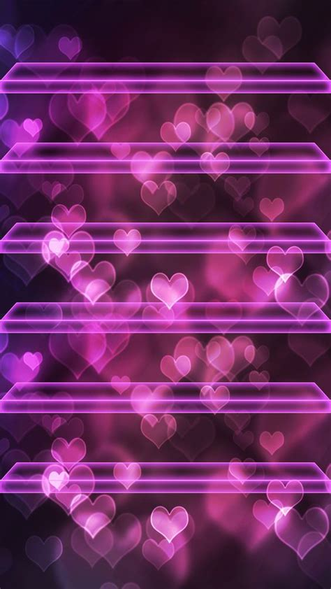 wallpaper girly shelves tap and get the free app shelves hearts bokeh pink neon