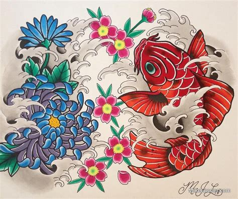 mike lussier art freek tattoo japanese flash sheet