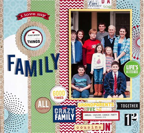 Family Scrapbook Layout ? me & my BIG ideas