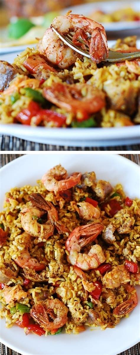 printable spanish recipes easy paella with chicken shrimp and sausage recipe