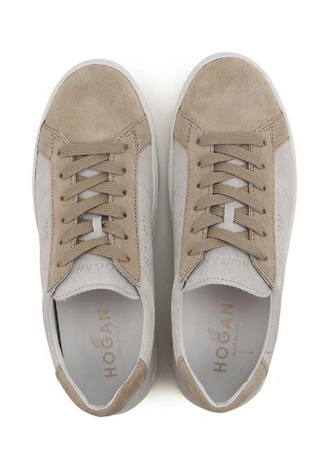 H302 Gold sneakers h302 da uomo in suede beige italian boutique