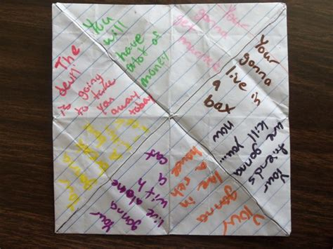 Fortune Teller Origami Sayings - paper fortune teller ideas for adults paper