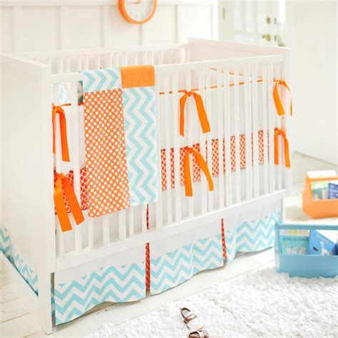 Blue And Orange Crib Bedding In Nursery Crib Bedding Orange