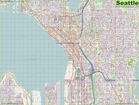 seattle map large large detailed map of seattle
