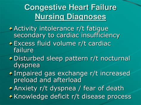 congestive heart failure chf nursing care plan management ppt congestive heart failure case study powerpoint