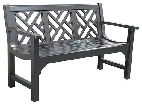 houzz benches innova chippendale bench semi matte black c612 37