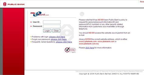 tutorial online banking glamiva register public bank online banking tutorial