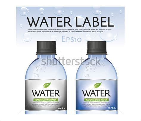 bottled water label template 25 water bottle label templates free sle exle