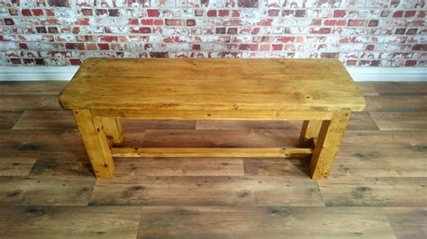 benches made from logs rustic pine dining bench made from reclaimed wood
