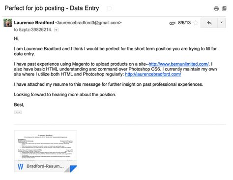 Sample Letter For Sending Resume by How To Kill At Finding Jobs On Craigslist