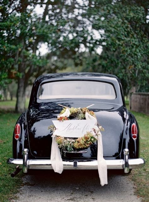 Car Decor by Picture Of Cool And Creative Wedding Getaway Car Decor Ideas
