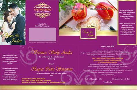 desain contoh undangan pernikahan khitanan ulang