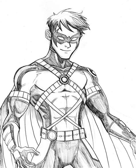 red robin coloring page red robin batman drawings marvel dc pinterest
