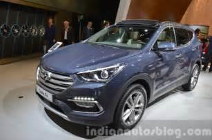 Hyundai Santa 2016 2016 Hyundai Santa Fe Facelift Unveiled At Frankfurt Auto Show