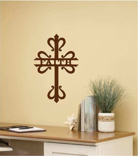 faith cross wall sticker wall art decor vinyl decal