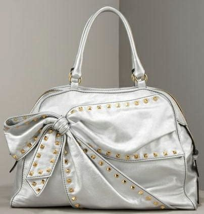 Valentino Laminated Vitello Bow Tote handbags handbags