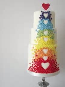 bunte kuchen 10 colorful wedding cakes