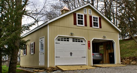 Garage With Living Space Floor Plans by Prefab Amp Portable Garages Prefab Garages Horizon