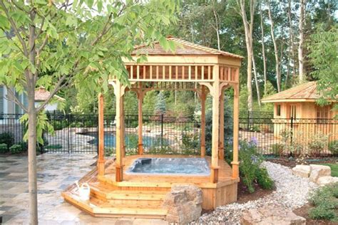 gazebos traditional patio toronto  forest fence