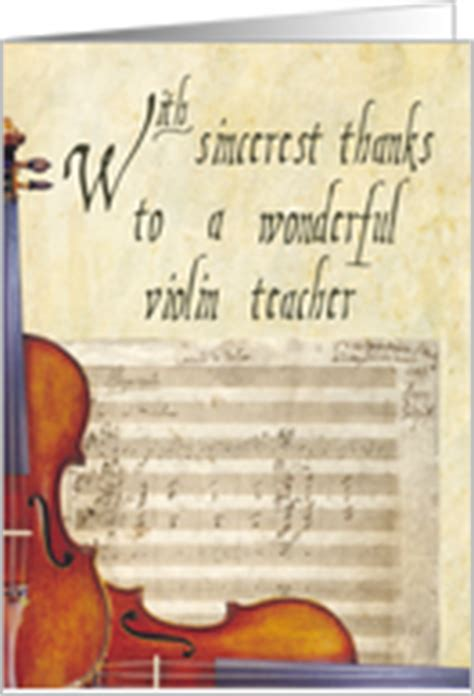 Thank You Letter To Violin Thank You Cards From Greeting Card Universe