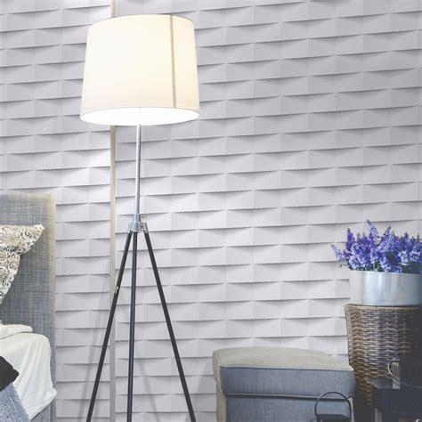 tapisserie relief papier peint intiss 233 3d origami blanc leroy merlin