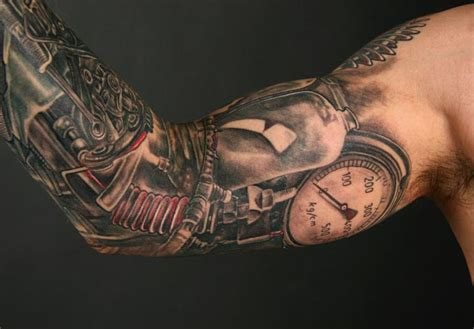 gear sleeve tattoo steunk tattoos designs ideas and meaning tattoos for you