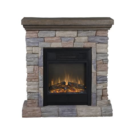European Fireplace by European Polystone Mantel Electric Fireplace With Remote