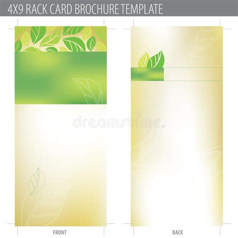 free template for 4x9 rack card 4x9 rack card brochure template stock vector image 10324316
