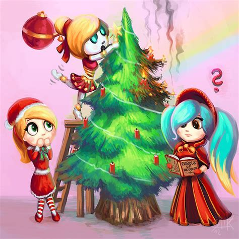 imagenes de navidad lol merry christmas league of legends fan art 36287399