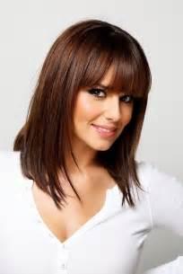 medium blunt hairstyles with bangs medium straight hairstyles with bangs hairstylegalleries com