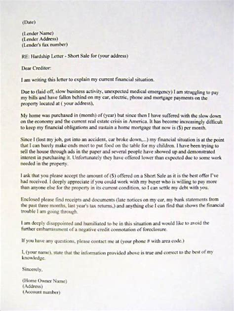 Example Of Hardship Letter   Crna Cover Letter