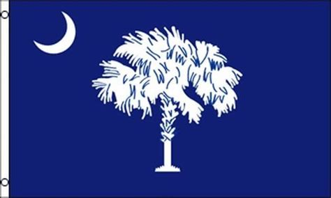 state of south carolina flag 3x5 ft blue crescent moon
