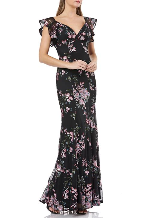 carmen marc valvo infusion sequin evening dress nordstrom