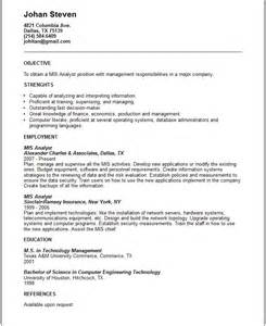 Mis Analyst Sle Resume by Mis Analyst Resume Exle Free Templates Collection