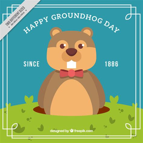 groundhog day free groundhog day since 1886 background vector free