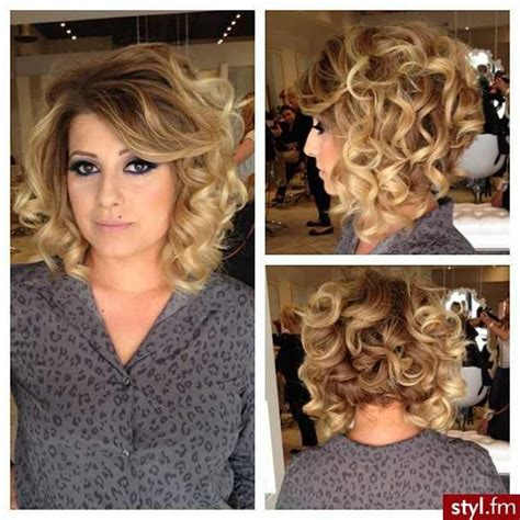 curly hairstyles book short layered hair with medium curl look book 2014