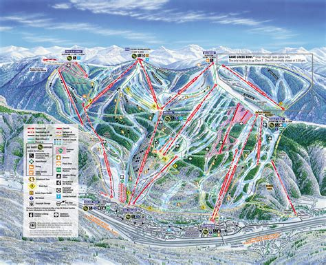vail map vail ski resort colorado ski areas