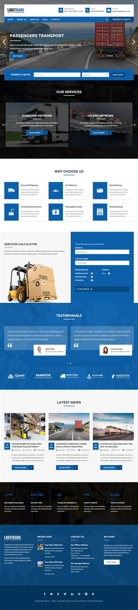website templates for logistics company 10 best transportation website templates 2017