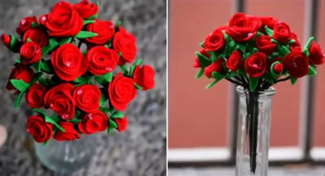 membuat buket bunga dari kain flanel cara membuat buket bunga mawar dari kain flanel mudah dan