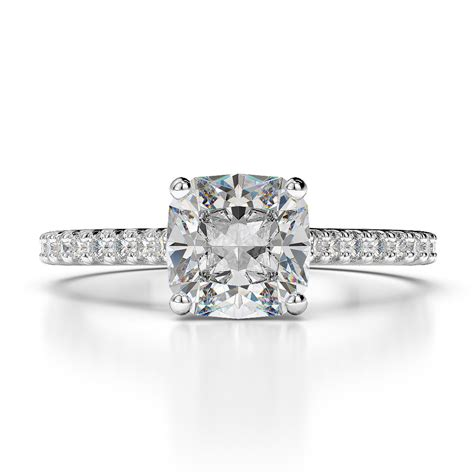 Cushion Cut Engagement Rings by 1 00 Carat Cushion Cut D Vs2 Solitaire Engagement