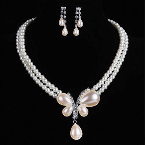 rhinestone earring necklace charm