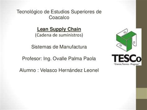 cadena de suministro lean 4 3 lean supply chain