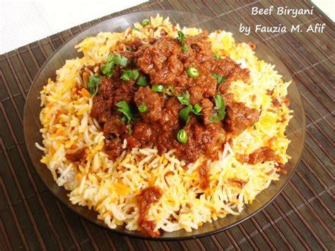 Kitchens Of India Hyderabadi Biryani Recipe Beef Biryani Fauzia S Kitchen Rice Meals