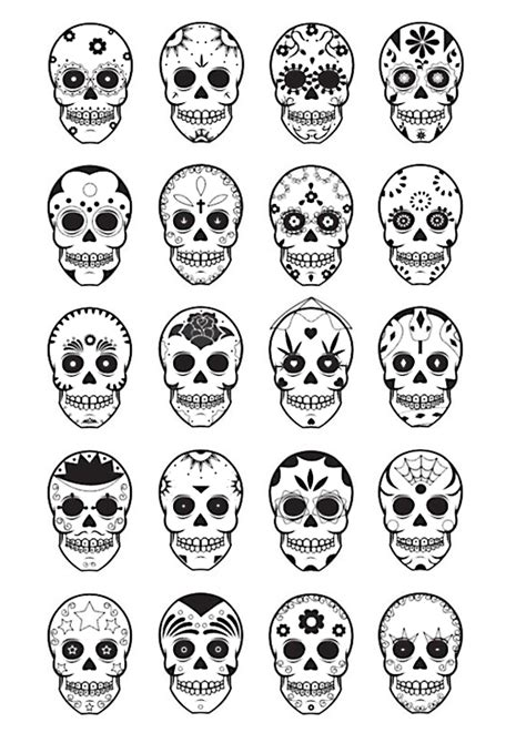 day of the dead skull template d 237 a de muertos sugar skull printable colouring sheet